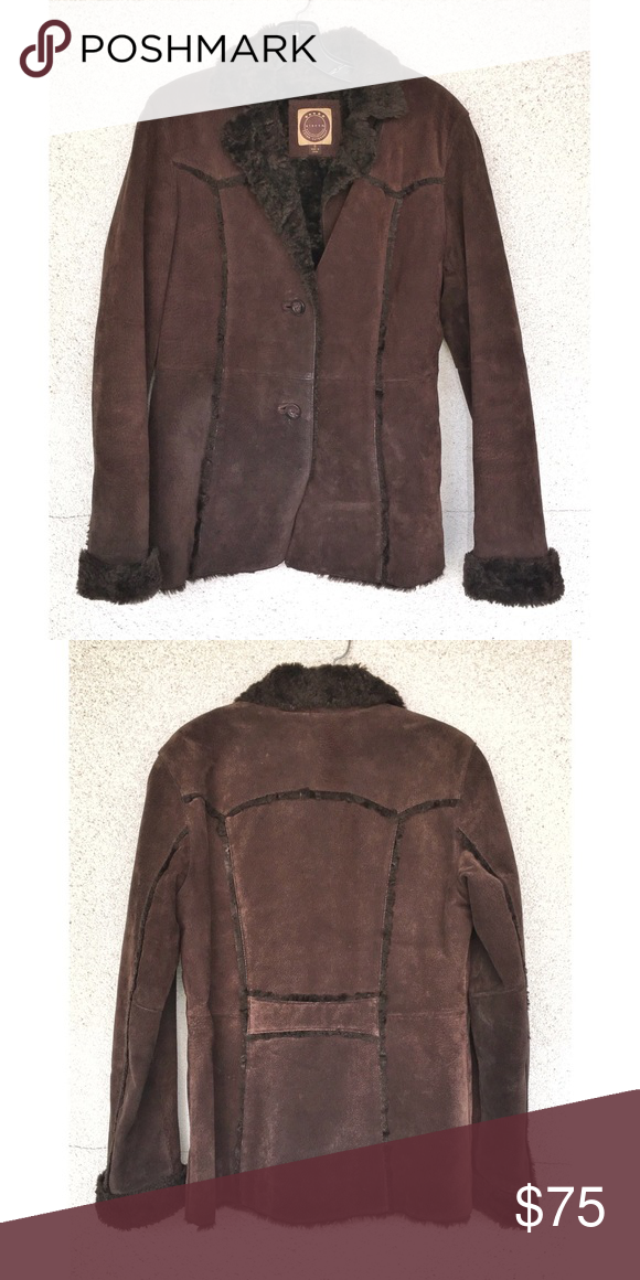 Women's Brown Leather & Fur Lined Winter Jacket Jackets