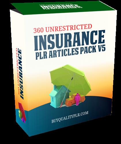 360 Unrestricted Insurance PLR Articles Pack V5 Dental