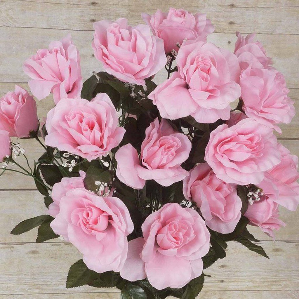 96 artificial pink giant silk open roses wedding bridal bouquet 96 artificial pink giant silk open roses wedding bridal bouquet centerpiece decoration mightylinksfo