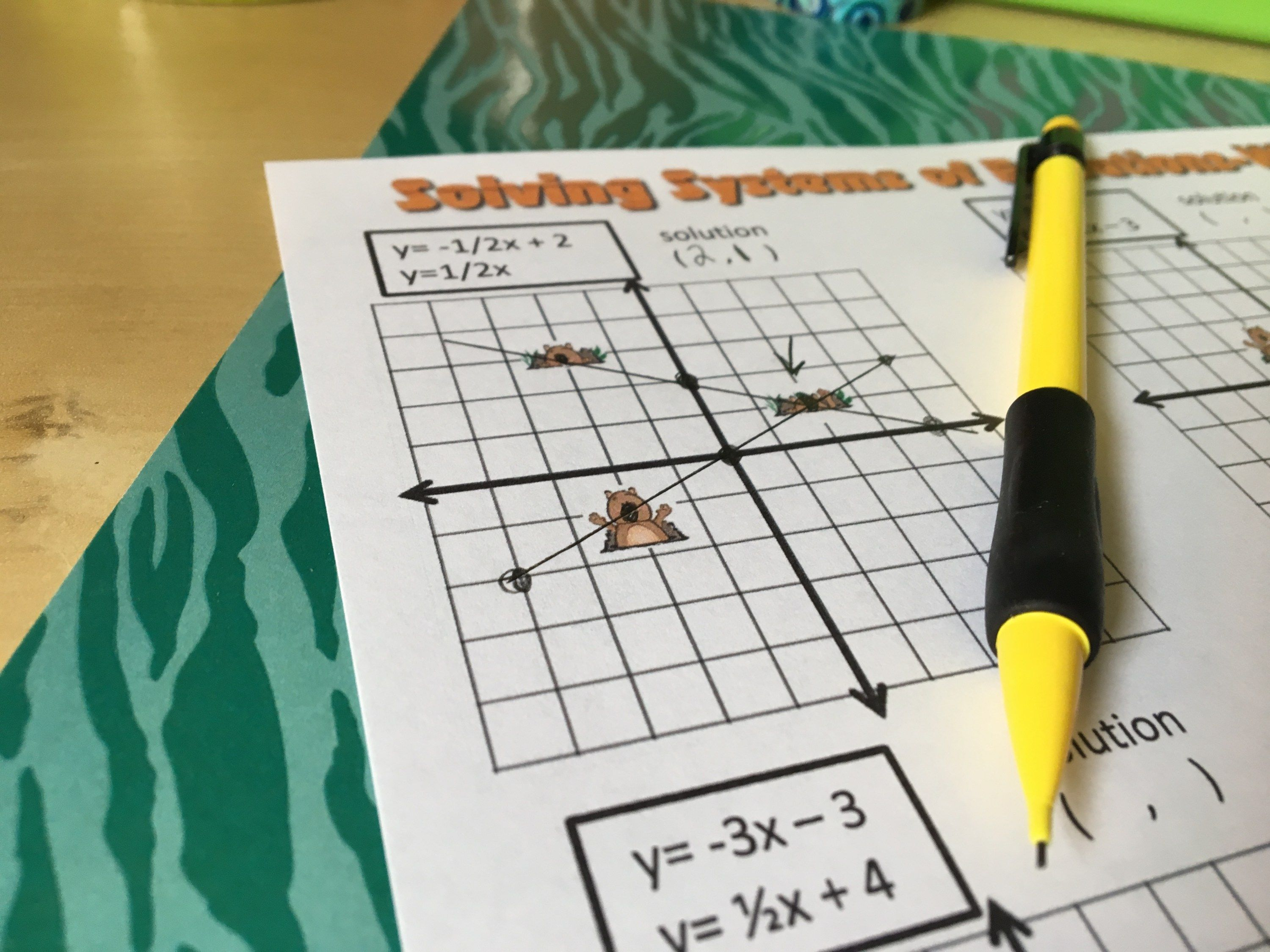 11 Graphing Activities for Solving Systems of Linear Equations | Systems of  equations, Graphing activities, Graphing