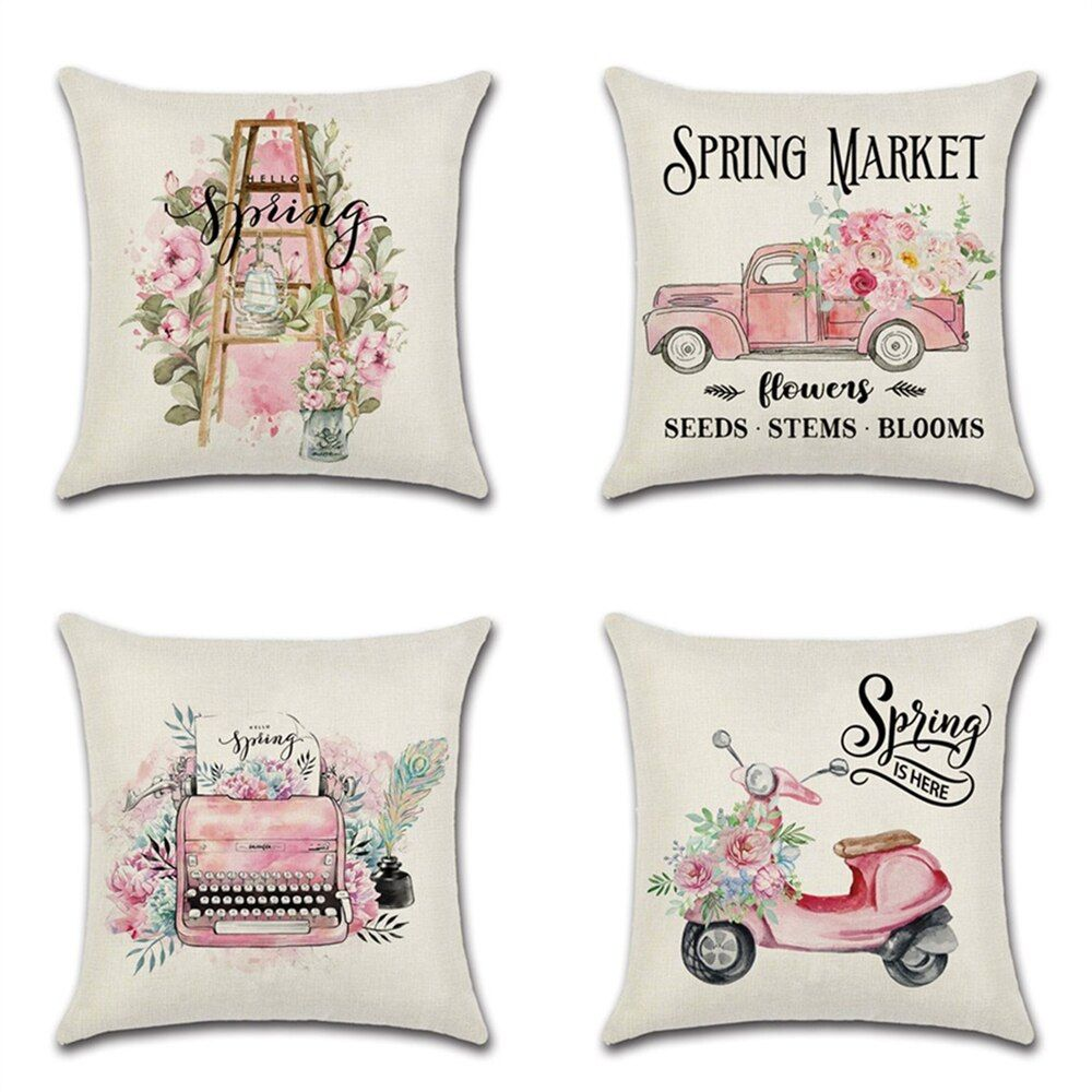 1pcs sigle sided pink cute truck spring