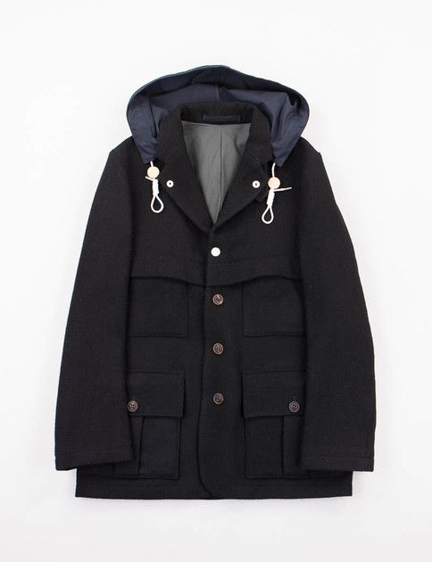 bc743a9bf9b41d Nigel Cabourn Black 1930s Sherpa Jacket