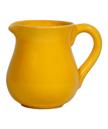 Take a look at this Yellow Small Pitcher by Home Essentials and Beyond on #zulily  sc 1 st  Pinterest & Take a look at this Yellow Small Pitcher by Home Essentials and ...
