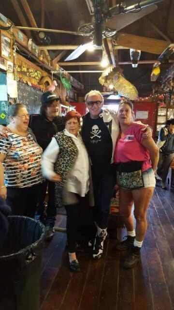 Norman Reedus with Peter Fonda and fans