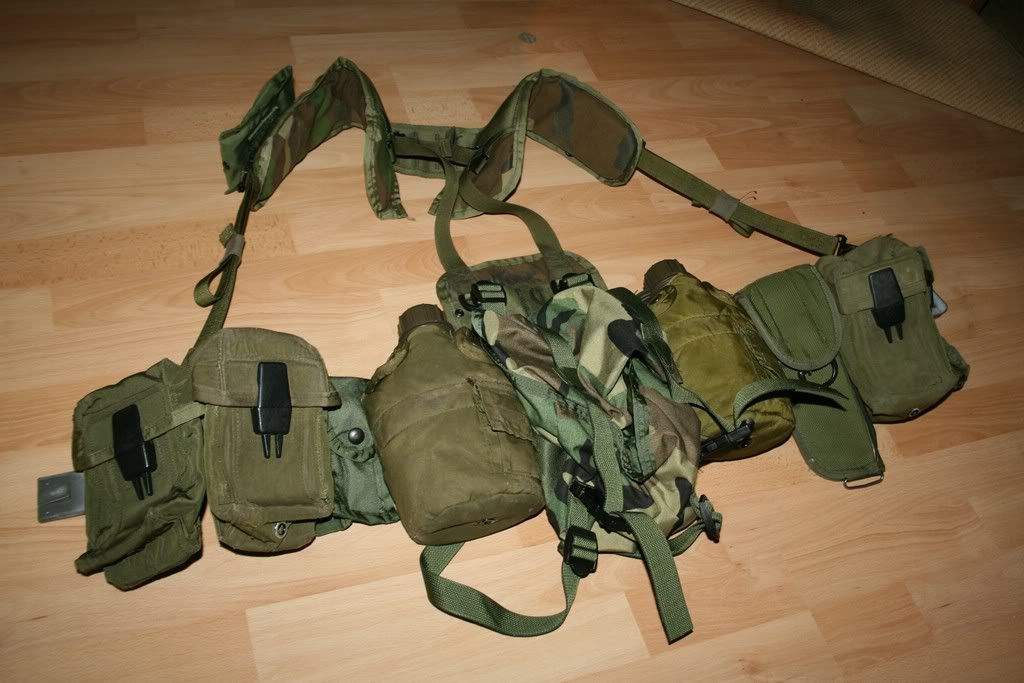 US- ARMY- LC2 Belt - LBV-88 Custom H-Gear Harness. LC2 - M16 Pouch