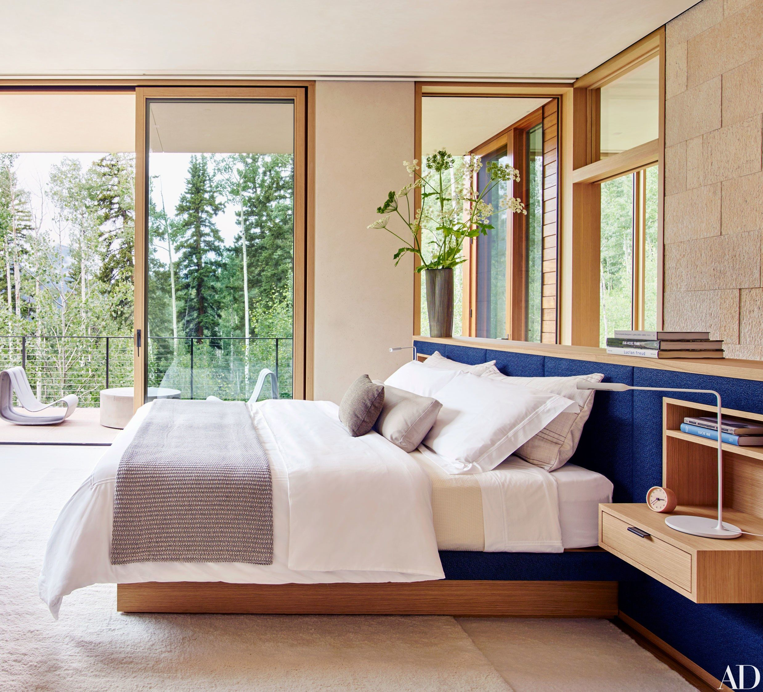 This Aspen Home Is A Nature Lover S Dream Architectural Digest Bedroom Contemporary Bedroom Aspen House