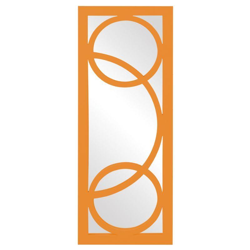 Howard Elliott 51261O Dynasty 38 Inch x 15 Inch Rectangular Resin Framed Mirror Orange Home Decor Mirrors Lighting