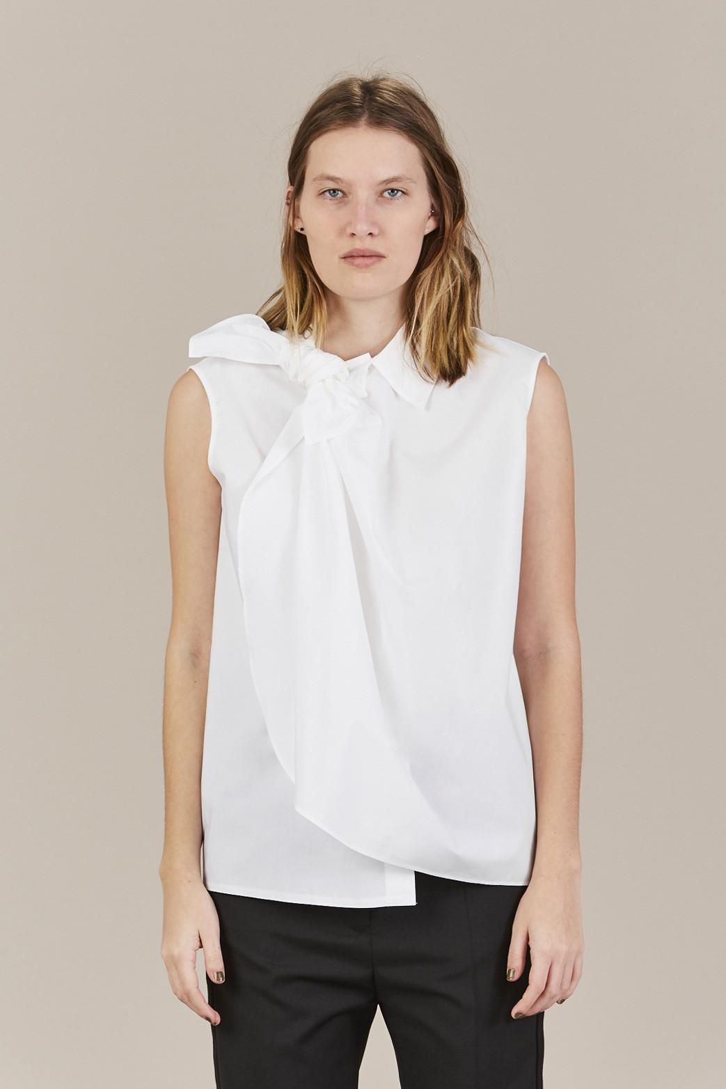 knot collar sleeveless top - Blue Maison Martin Margiela 100% Guaranteed For Sale Cheap Sale Popular Shopping Clearance Online Outlet Store Cheap Price AegCx