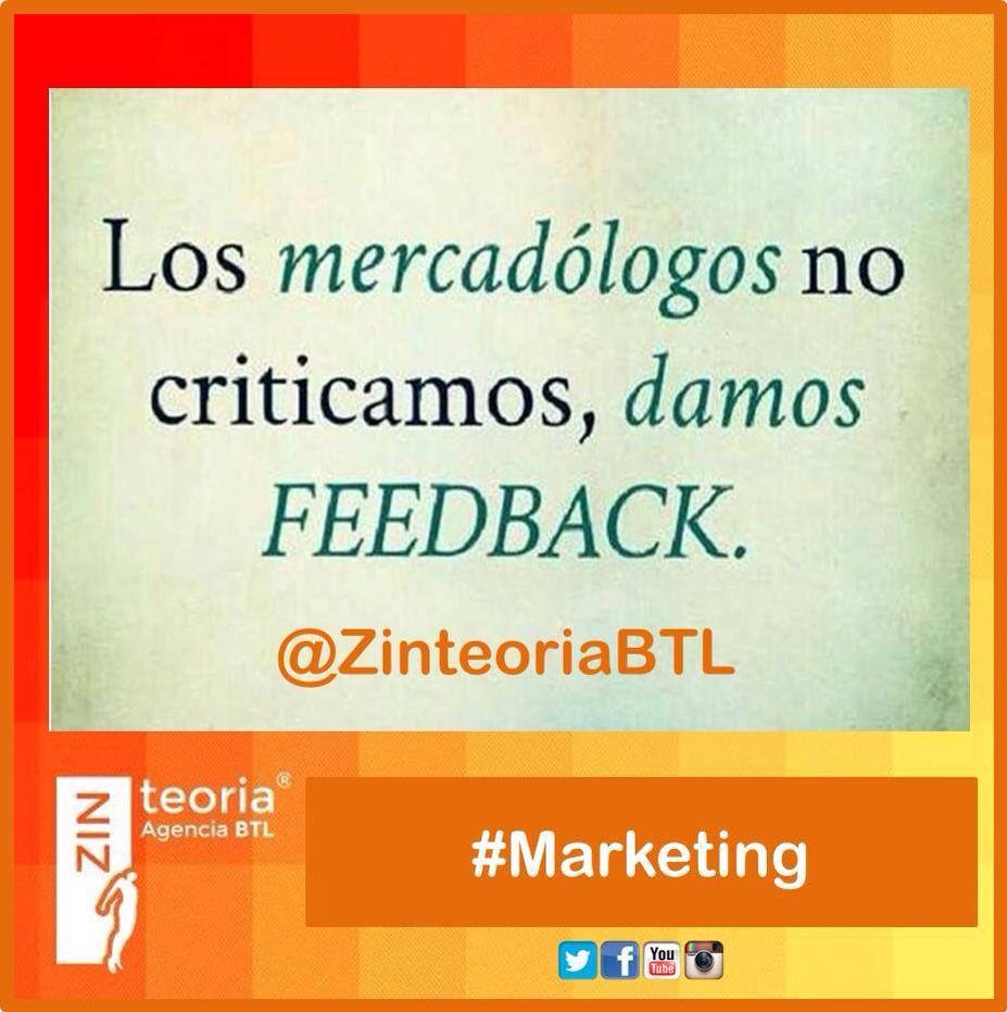 #Feedback  Capacidad de un emisor para recoger reacciones de los receptores y modificar su mensaje, de acuerdo con lo recolectado. #Marketing #AgenciaBTL