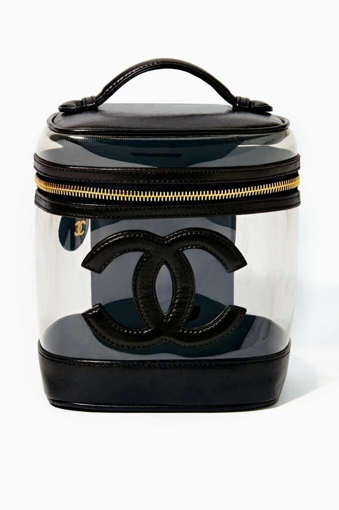 b5e28ea4daf Frivolous Fabulous - Vintage Chanel Black Leather Vanity Bag Frivolous  Fabulous Styled