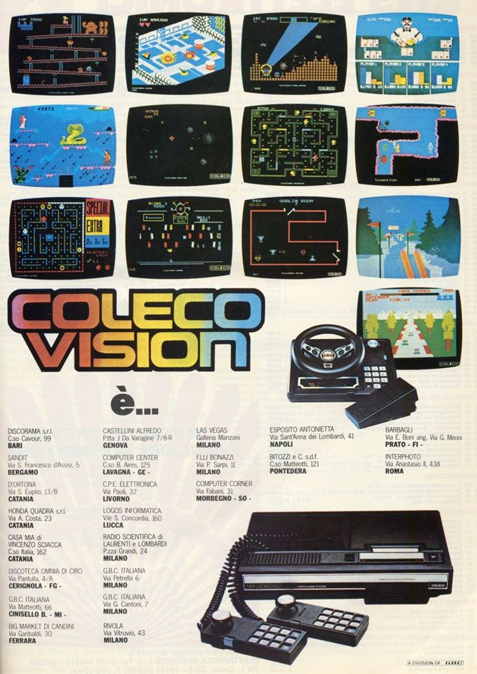 Coleco's Colecovision gave new possibilities to gamers