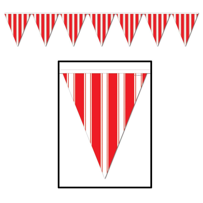 Rayures blanc rouge Cirque Anniversaire Personnalisée Enfants Fête D/'Anniversaire bunting