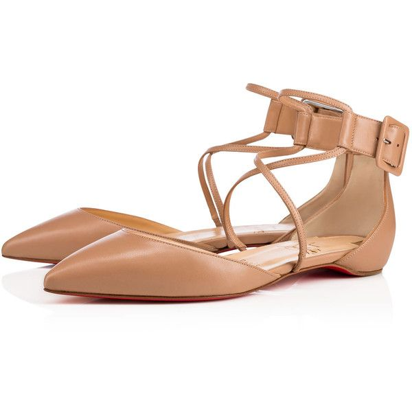 1a94a243c14b Suzanna flat nappa nappa NUDE Nappa - Women Shoes - Christian... ( 845) ❤  liked on Polyvore featuring shoes