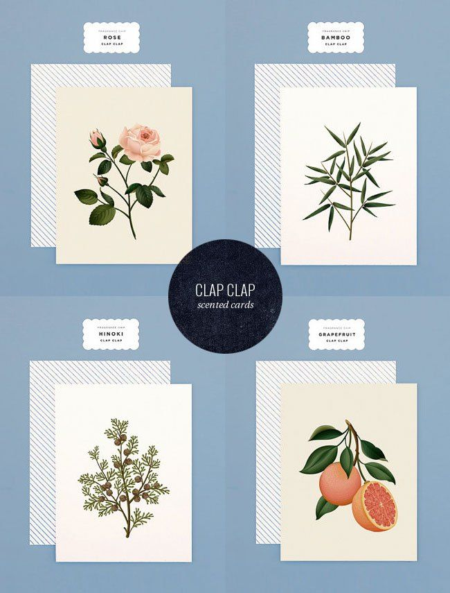 Scented Cards from Clap Clap Design | Stationery fetish | Pinterest ...