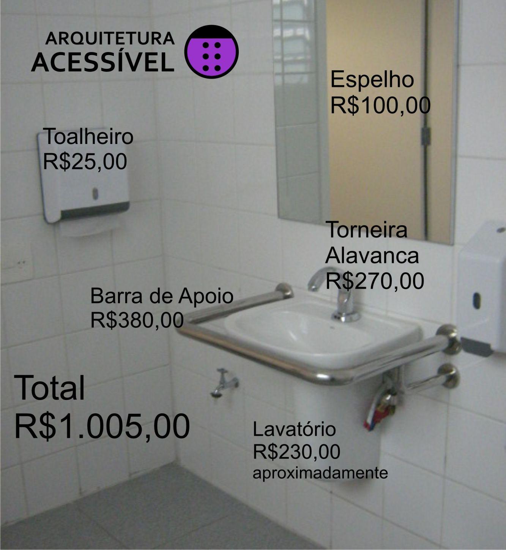 Preco Lavatorio Com Imagens Banheiro Para Cadeirante Banheiro