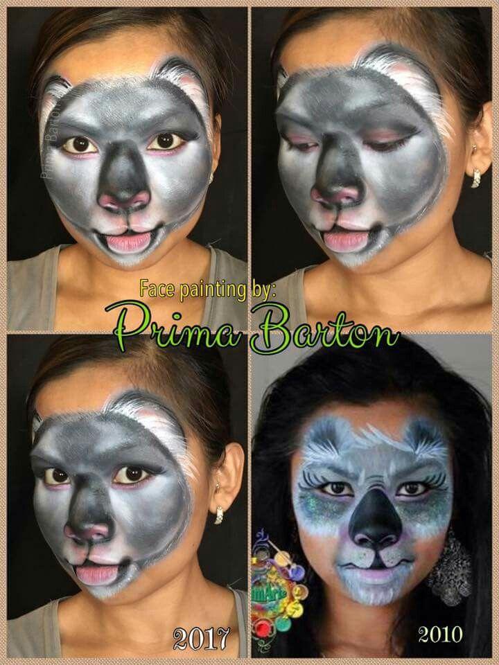 Prima Barton Koala face Face painting halloween, Kids