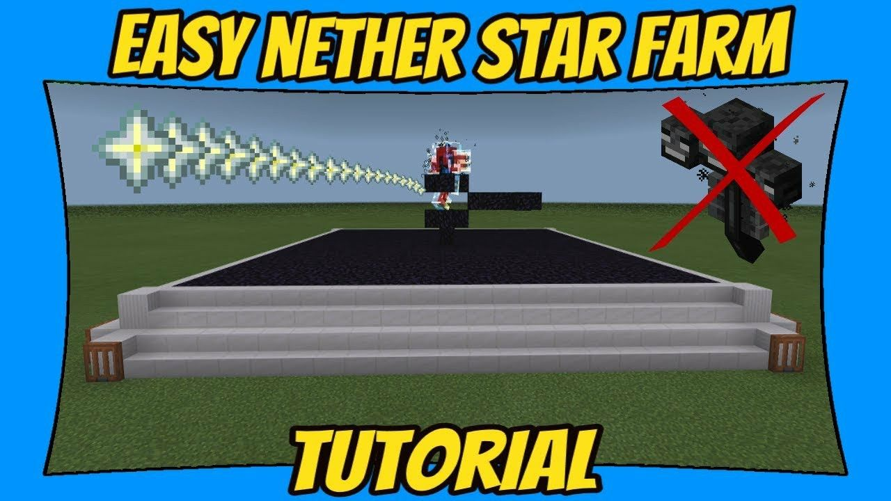 EASY Nether Star Farm Tutorial [Minecraft Bedrock Edition