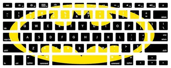 Batman macbook keyboard decal stickers by edwardstickerhands