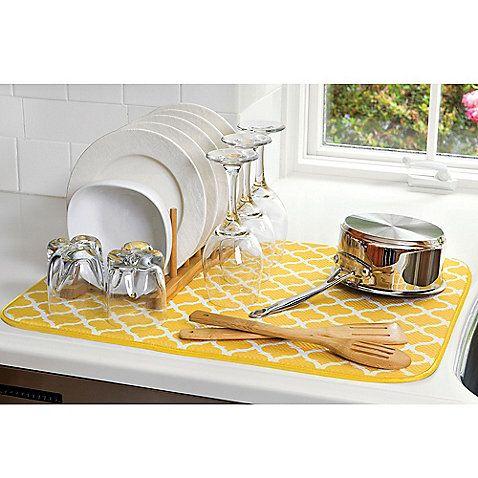 The Original Xl Dual Dish Drying Mat Dish Drying Mat Apartment