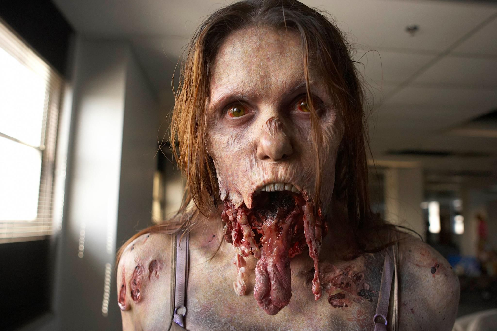 Great Zombie shot. Amazing makeup.