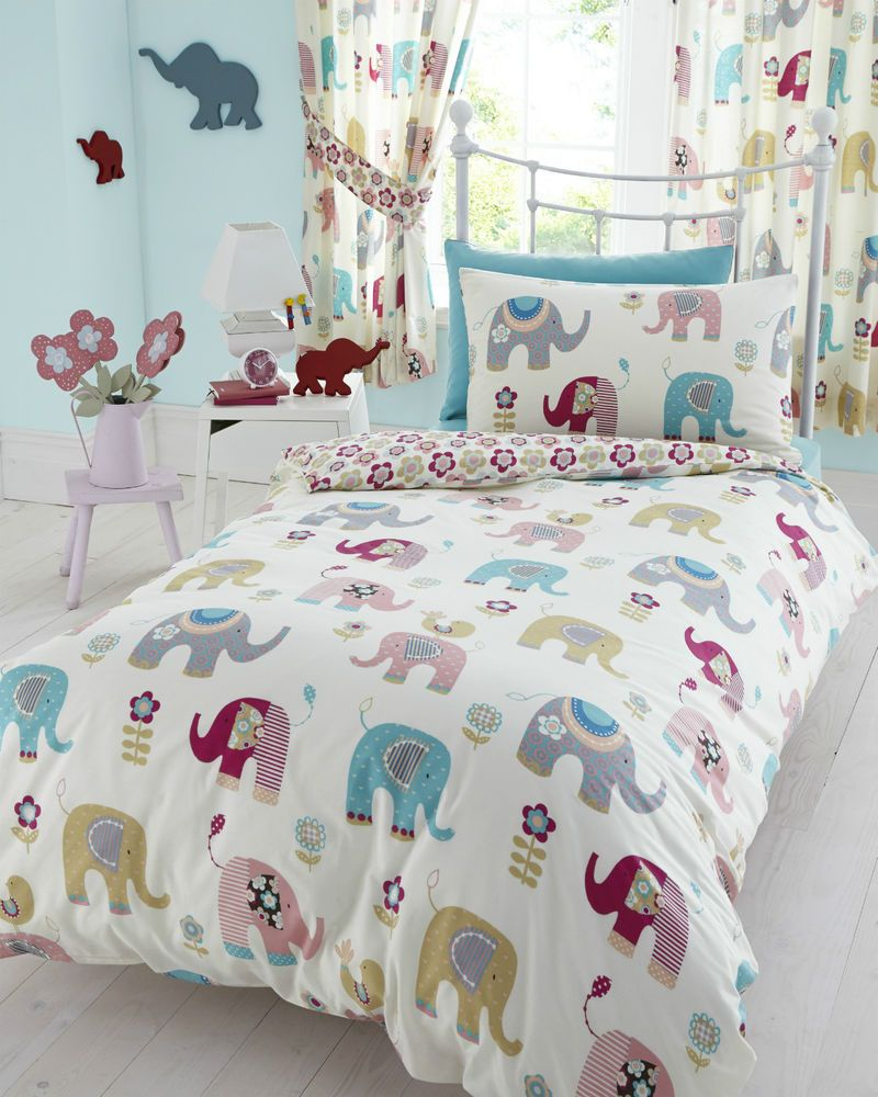 cover junior quilt elephant toddler duvet pin pillowcase and bed set jumbo bedding