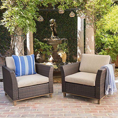 grady outdoor aluminum framed mix brown wicker club chairs with rh pinterest com