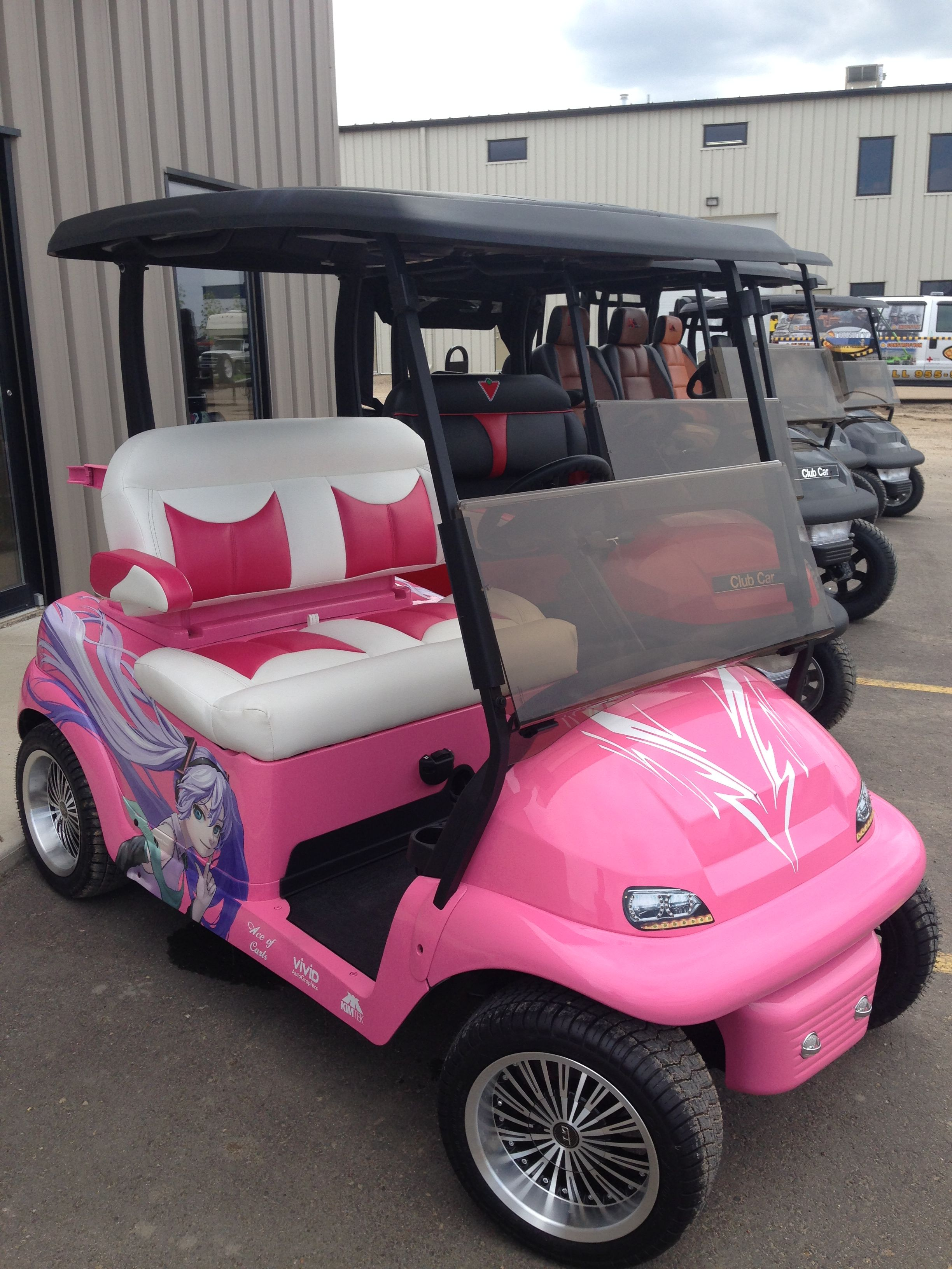 Pink Barbie Golf Cart Golf Carts Golf Cart Seats Golf