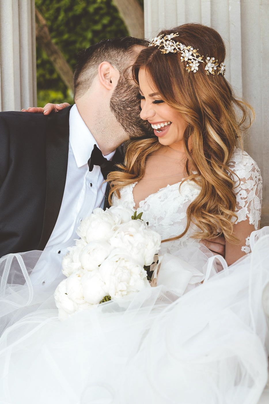wedding day, first look, bride and groom, elysia gown hayley paige ...