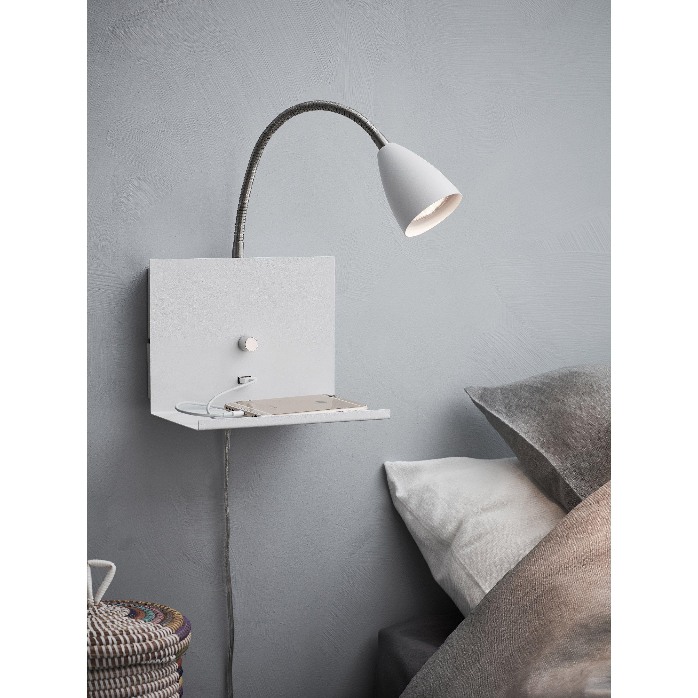Applique Scandinave Metal Blanc Markslojd Logi 1 Lumiere S Eclairage Mural Applique Murale Et Parement Mural