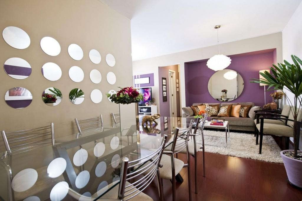 Mirror Decoration Ideas For Living Room Bedroom And Dining Stunning Round On The Wall In Area As Well Glass