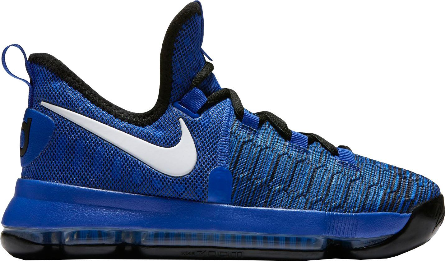 Nike Kids Grade School Zoom Kd 9 Basketball Shoes Blue Nike Nike Kids