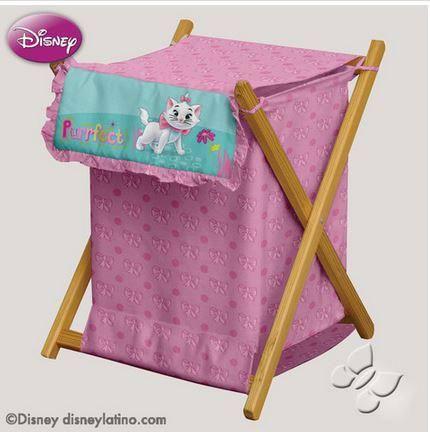 Disney aristocats y marie arcoiris cesto multiuso en rosa - Cesto para mantas ...