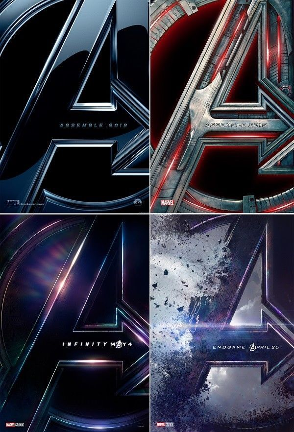 Avengers 1 2 3 4 Teaser Movie Poster 24x36 27x40 32x48 Marvel Comics Print #marvelmoviesinorder