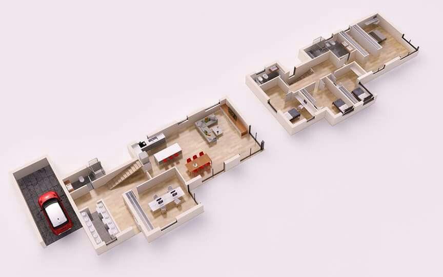 Pin by Mari Martinez on Diseño Pinterest - plan maison plain pied 80m2