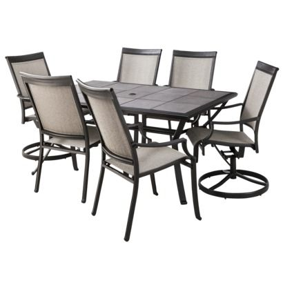 Threshold Harriet Sling Patio Piece Dining Furniture Set For