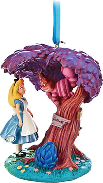Figurine Disney Alice au pays des merveilles et le chat Cheshire – Décoration de Noël
