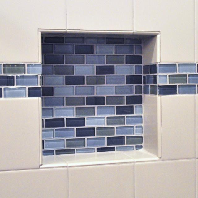 shower niche glass shelf md custom shower niche with glass tile