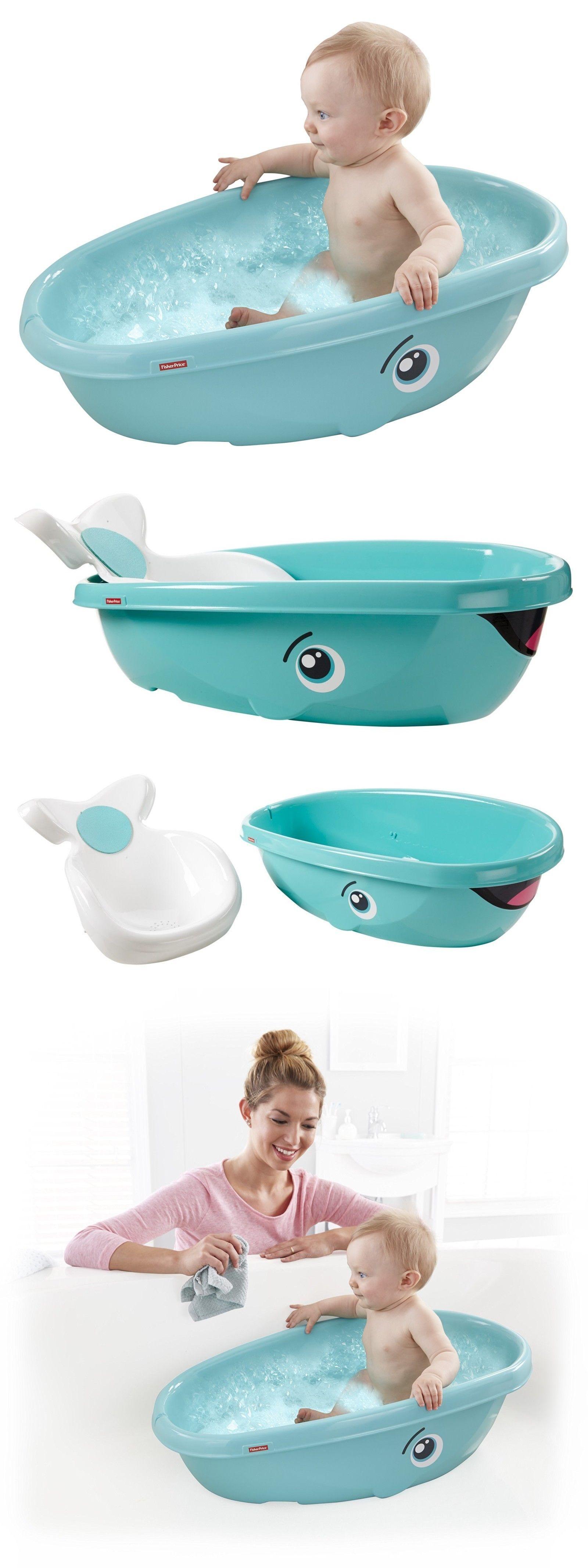 Fisher Price Whale Baby Bathtub Kids Toddler Newborn Shower Bath ...