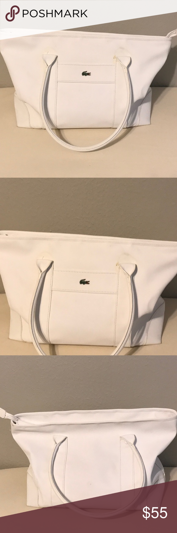 Lacoste large zip tote  412afdf275901