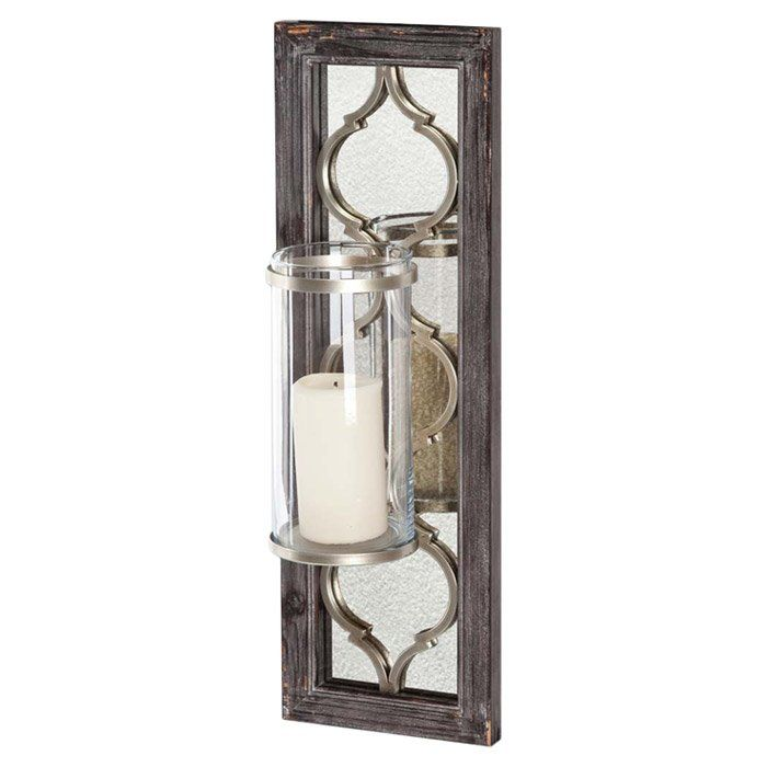 Accent Your Console Or Mantel Display With This Candleholder The