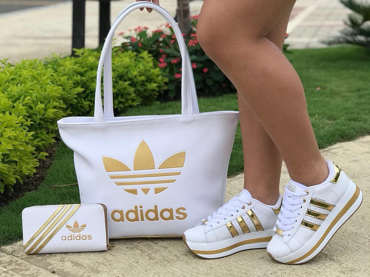 adidas trainers and nike bag