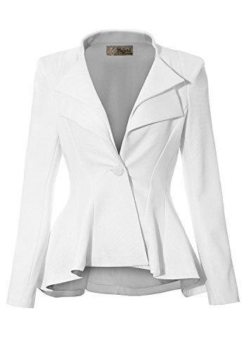 HyBrid & Company Women Double Notch Lapel Sharp Shoulder Pad Office Blazer  | Blazer jackets for women, Clothes, Office blazers