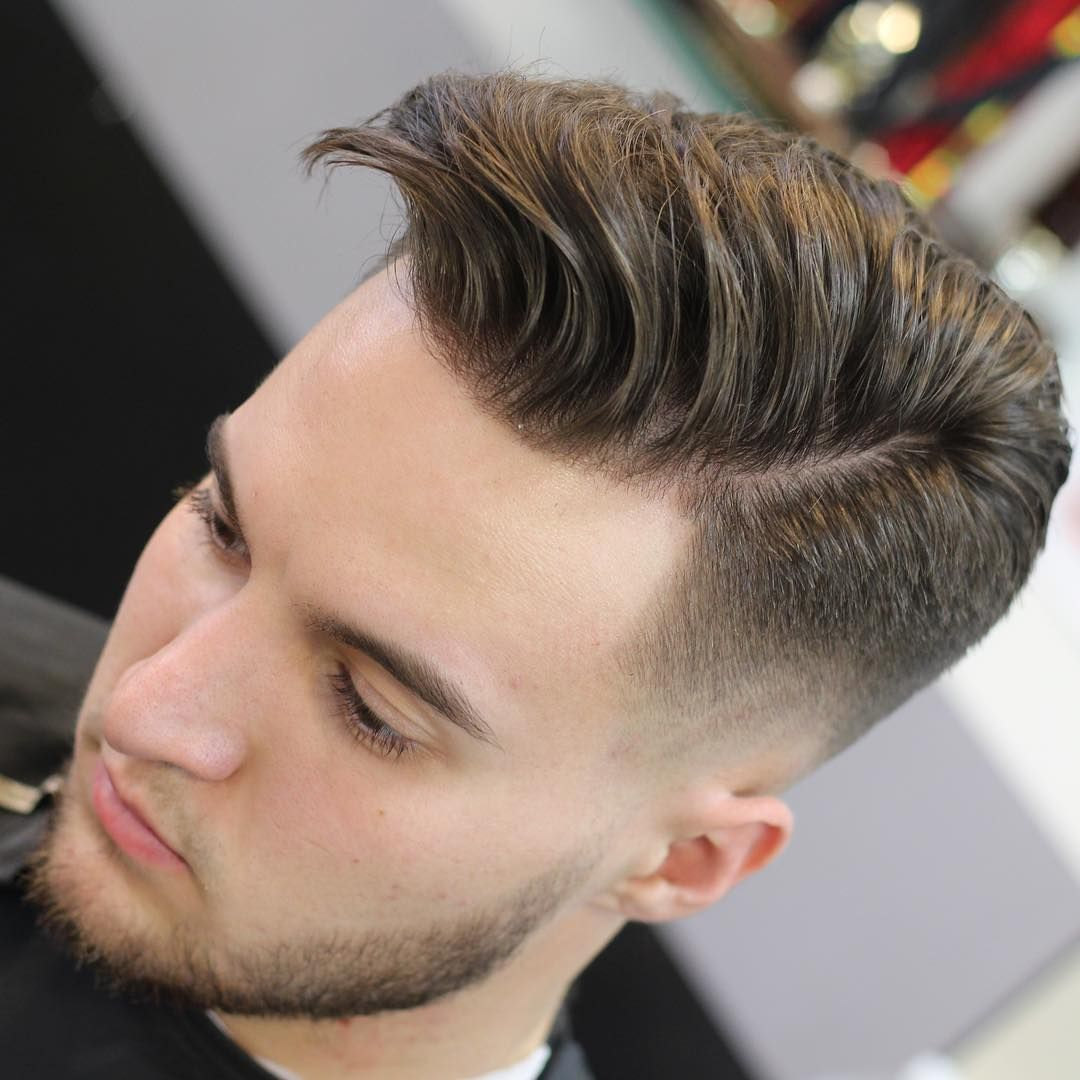 Mrfineline side part hairstyle for men medium length