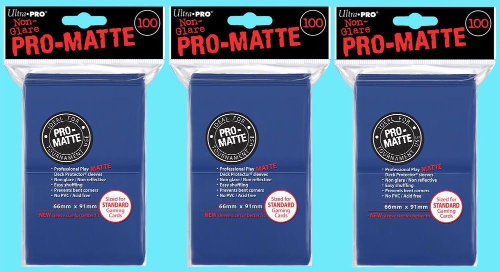 300 ultra pro blue promatte standard size deck protectors