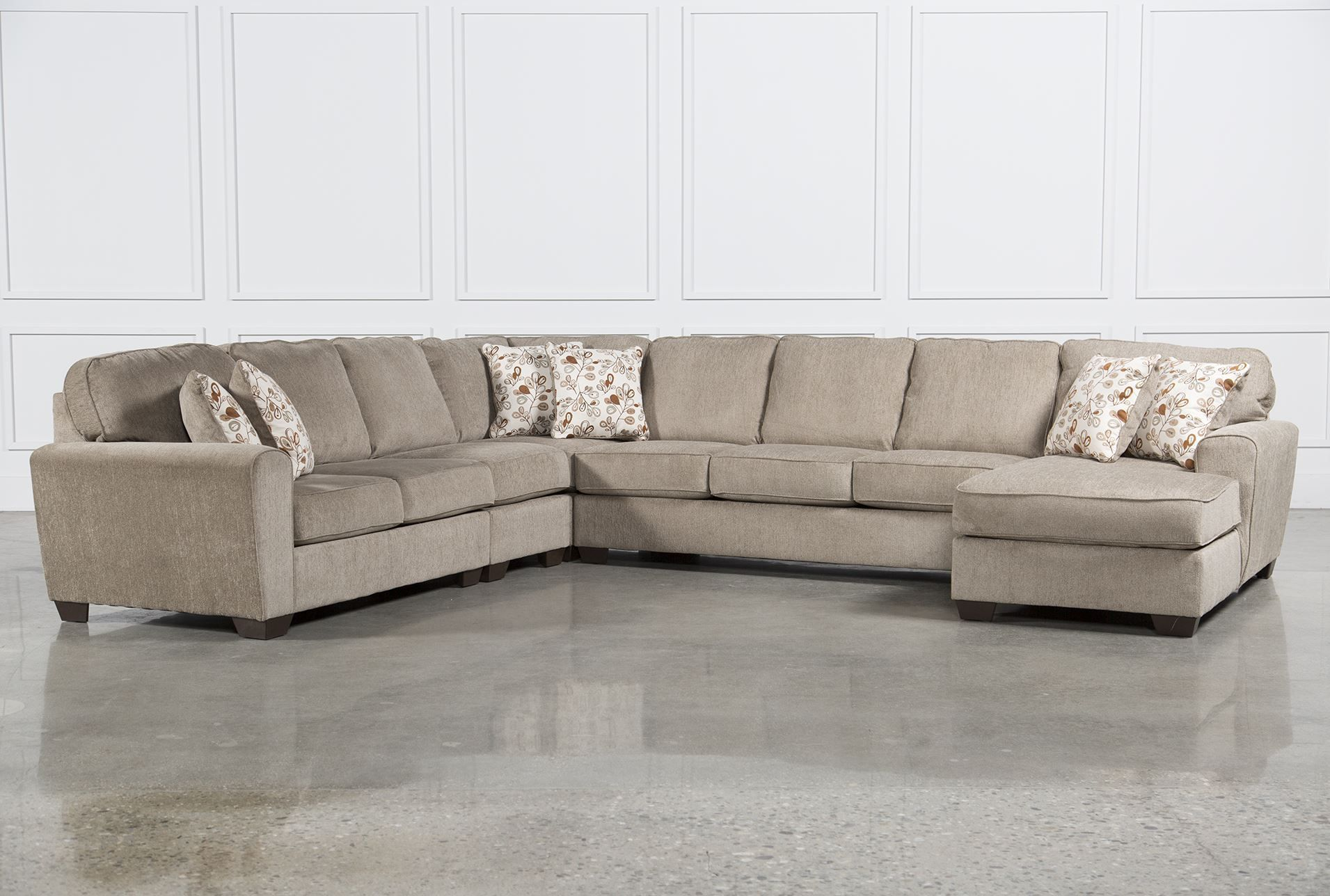 Superb Ashley Patola Park 5 Piece Sectional W Raf Chaise Brown Forskolin Free Trial Chair Design Images Forskolin Free Trialorg