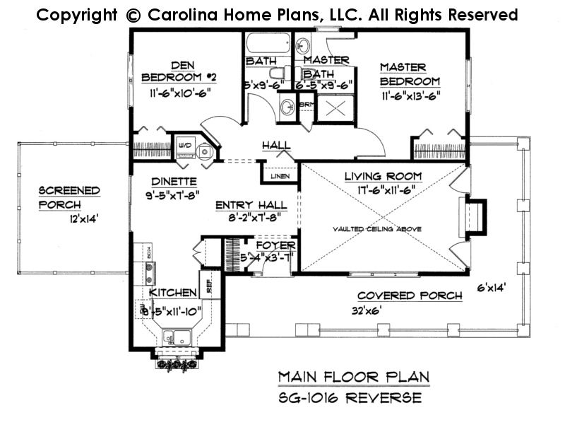 Small cottage style house plan sg 1016 sq ft affordable for Affordable cottage house plans