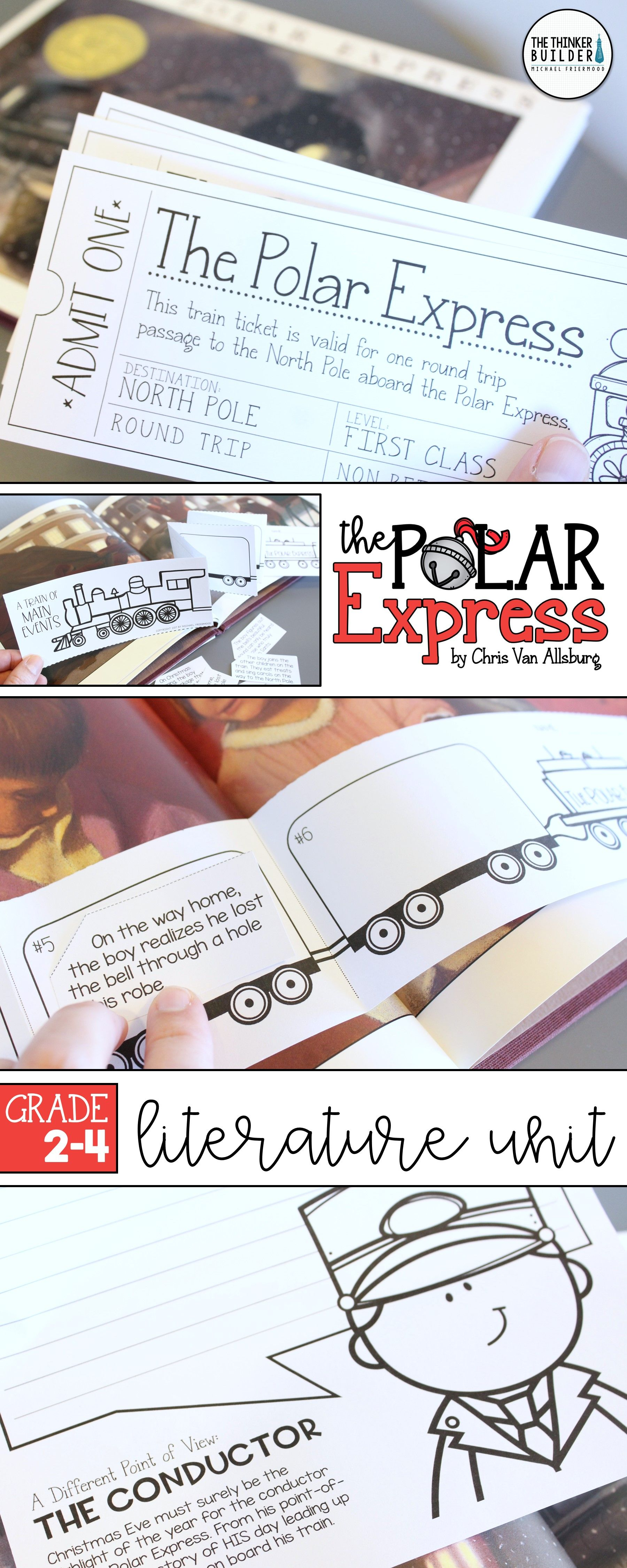 The North Pole Express Literature Unit Book By Chris Van
