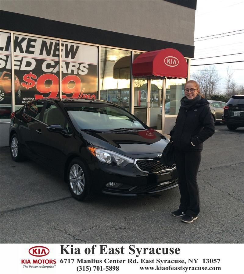 I leased a Kia Forte from Kia of East Syracuse. The staff