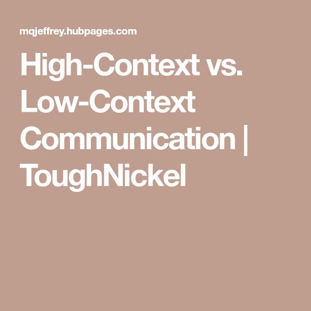 low context communication