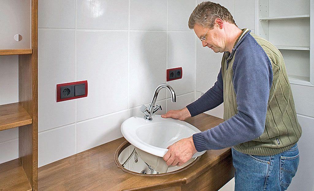 waschtisch montieren bauen renovieren waschtisch badezimmer und w sche. Black Bedroom Furniture Sets. Home Design Ideas